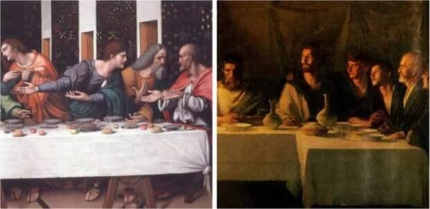 На картине изображены апостолы в ренессансной одежде вместо соответствующей эпохе одежды. \ Фото: yandex.ua.