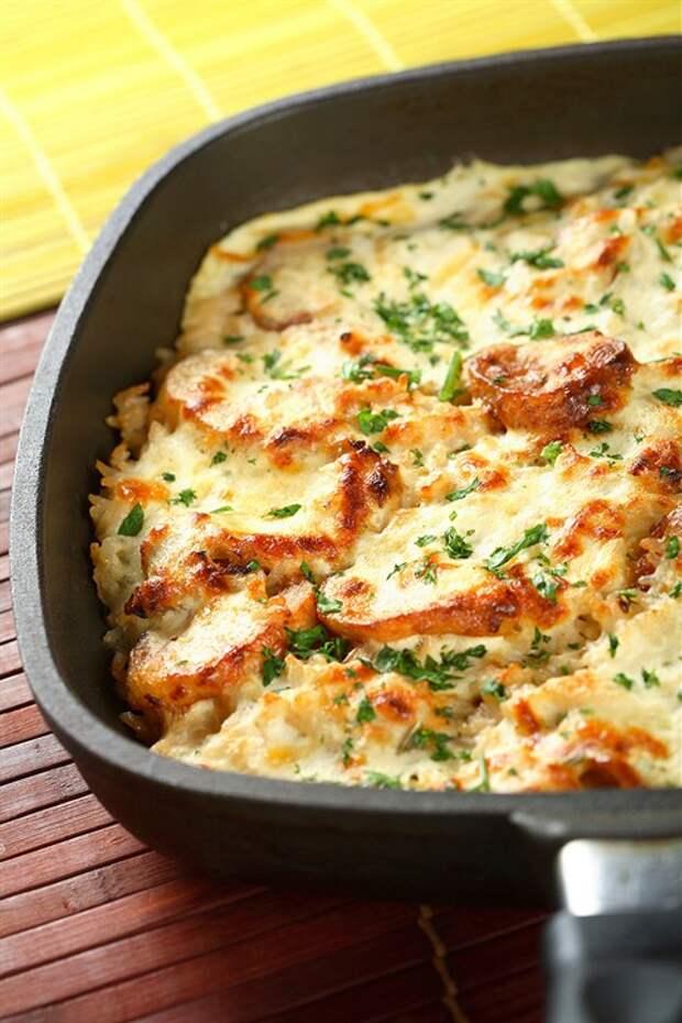 Безумно вкусная и простая картофельная запеканка