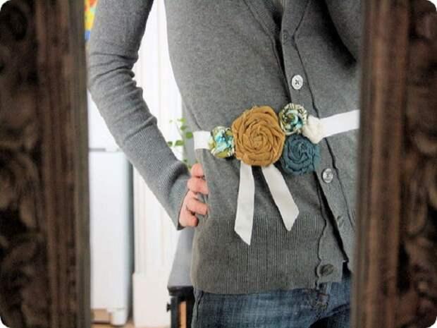 Делаем цветы из ткани для одежды