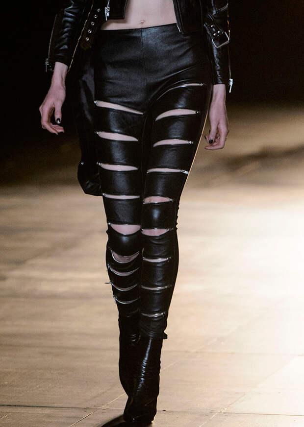 Роскошные кожаные брюки