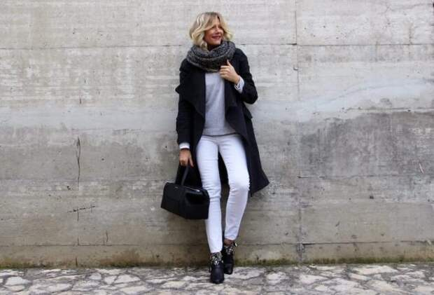 Как и с чем носить джинсы зимой: модные советы стилистов