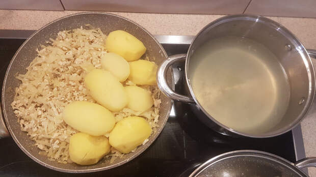 Картофельный отвар и начинка для пирога