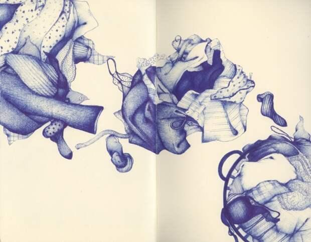 Потрясающие рисунки шариковой ручкой