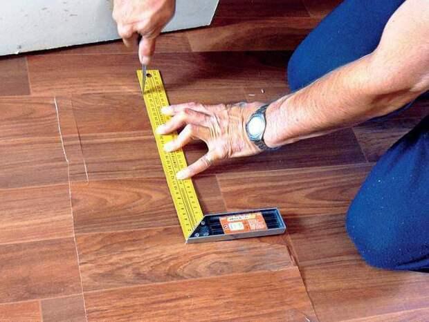 Как отремонтировать линолеум своими руками, видео