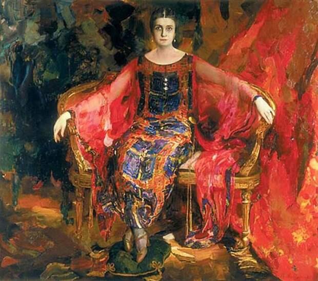 Портрет Александры Балашовой. (1924 год). Автор: Ф.Малявин.