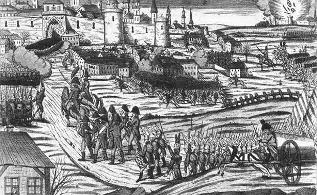 Неизвестный художник. Вступление русских войск в Кенигсберг