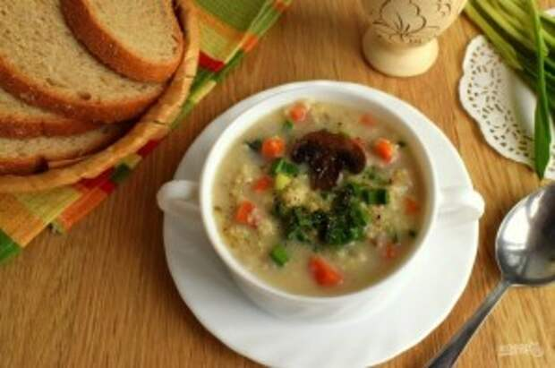 Пшенный суп с грибами - фото шаг 7