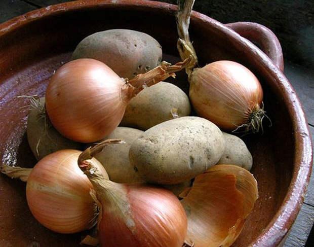 Лук и картофель не терпят друг друга еда, полезное, продукты, советы, хранения