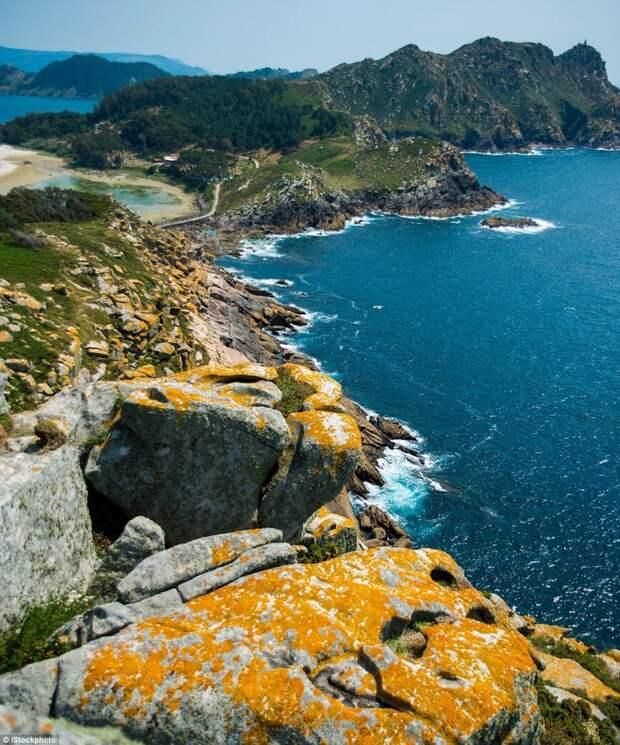 Национальный парк на атлантических островах Галисии, Испания европа, красоты, национальные парки, природа