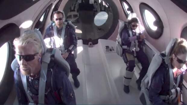Британский миллиардер Брэнсон побывал в космосе на собственном корабле