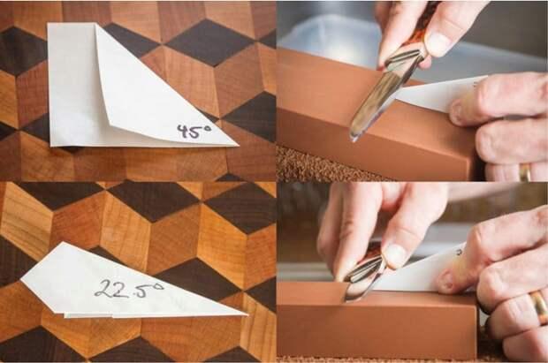Как установить нож под правильным углом