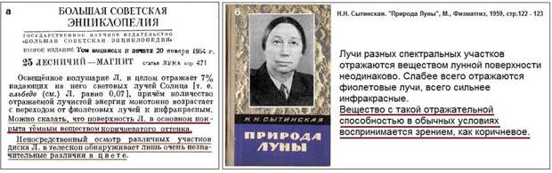 В СССР коричневый цвет Луны переходит в разряд школьных истин ... или Фальшивый цвет американской «Луны»