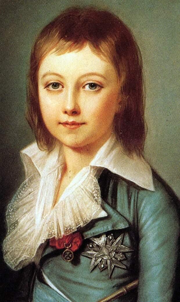 Портрет Луи-Шарля до заточения.