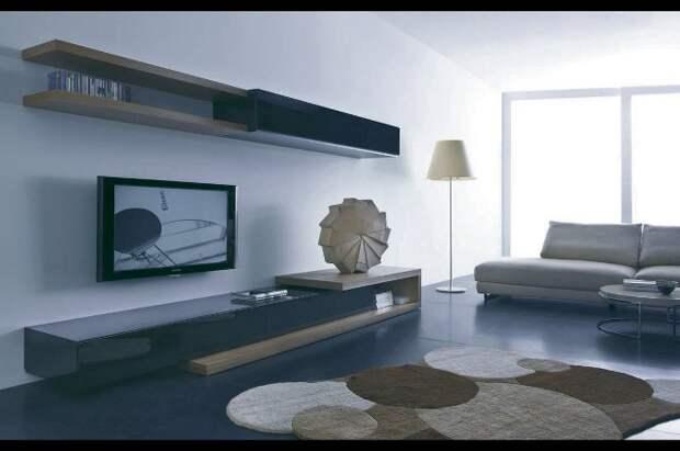 Стенка в гостиную: как выбрать модную и функциональную мебель (90 фото)