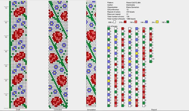Схемы для толстых бисерных жгутов