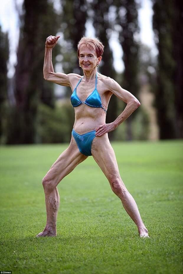 73-летняя бабушка-бодибилдерша знает, как быть успешной в любви и спорте