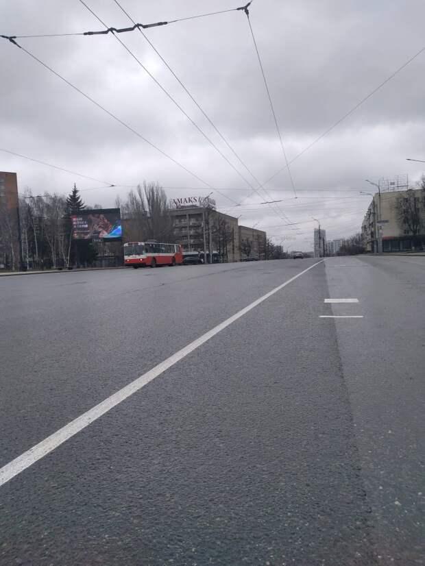 На улице Пушкинской в Ижевске нанесли временную разметку для парадных расчетов