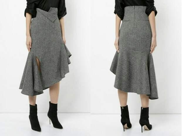Выкройка необычной деловой юбки