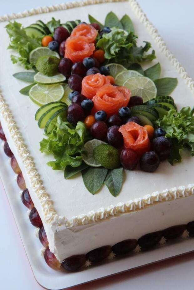 Бутербродный торт — закуска, которая нравится всем, кто бы её ни пробовал!