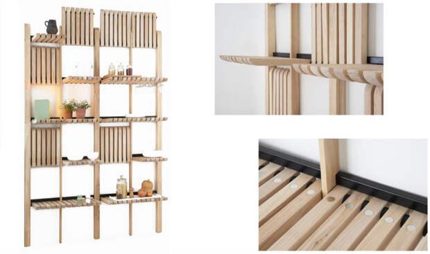 Дизайнер придумал функциональную и необычную систему модульных полок
