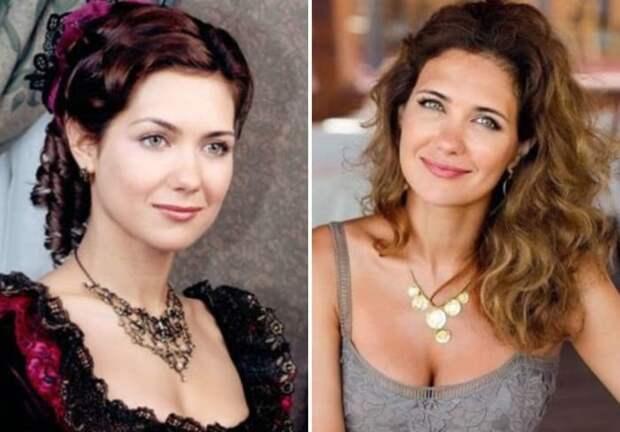 Екатерина Климова в сериале *Бедная Настя* и в наши дни | Фото: starhit.ru и 24smi.org