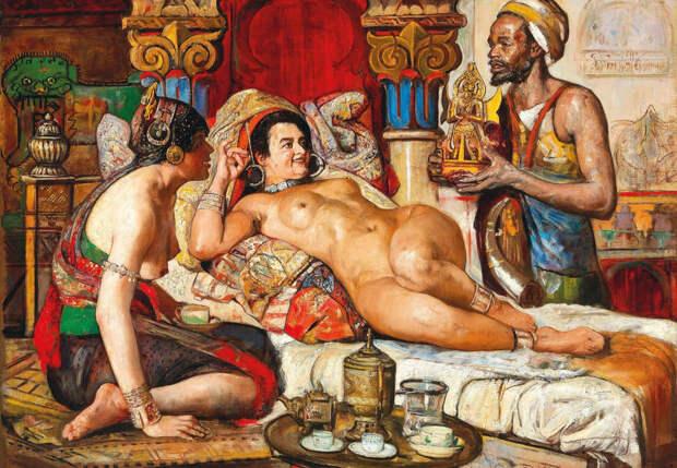 Обнаженная натура в изобразительном искусстве разных стран. Часть 114.
