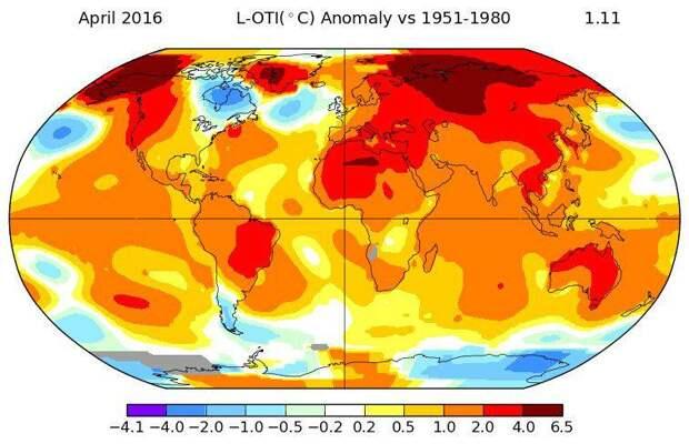 NASA зафиксировало пугающий температурный рекорд апреля
