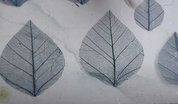 Шикарные серьги из скелетированных листьев