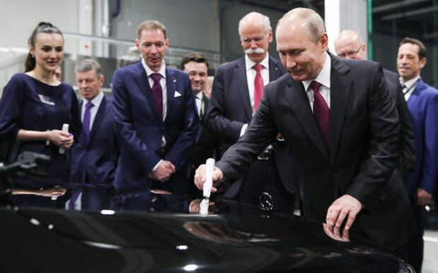 Путин открыл российский завод Mercedes-Benz