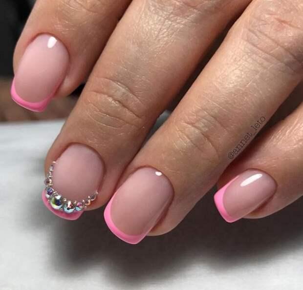 розовый френч фото 32