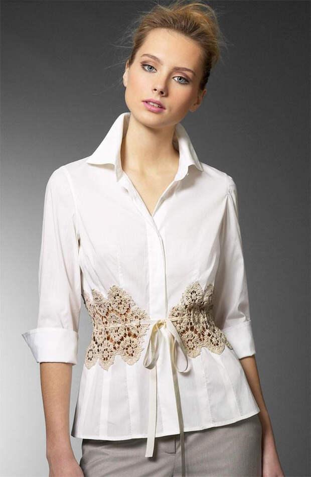 Идеи комбинирования вязания и ткани в летних моделях