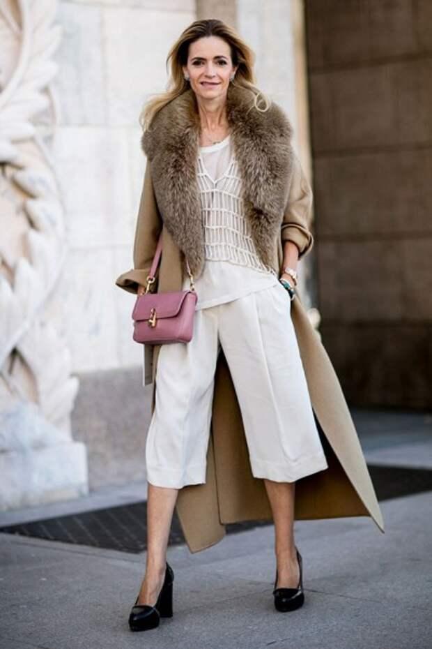 короткие брюки сочетаются с классическими вещами