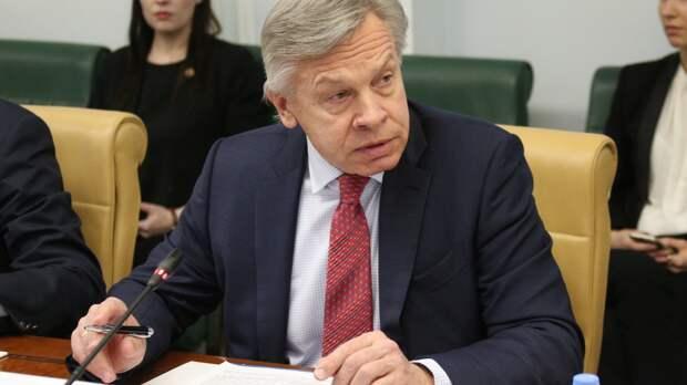 Пушков: Санкции против РФ подорвали перспективы встречи Байдена с Путиным