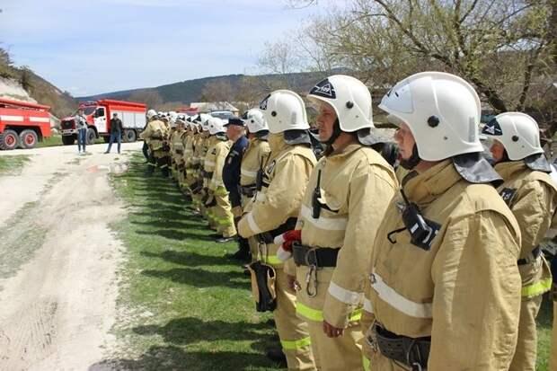 В МЧС РК прошло пожарно-тактическое учение