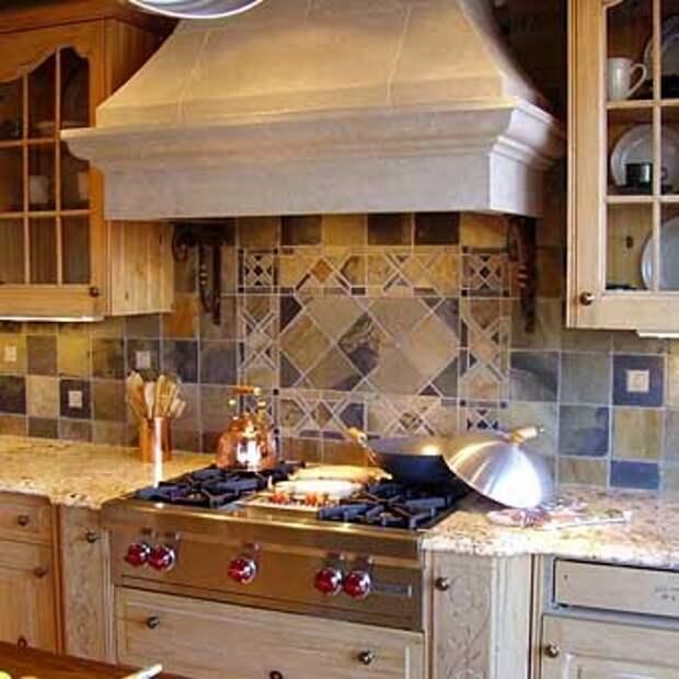 мозаика на рабочей стенке кухни