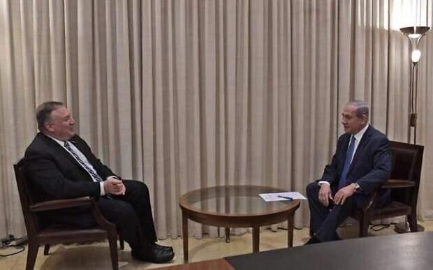М. Помпео и Б. Нетаньяху в иерусалимской резиденции израильского премьера, 13 мая 2020
