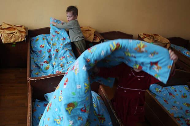 Воспитанники детского дома №3 в микрорайоне Деревяницы Великого Новгорода