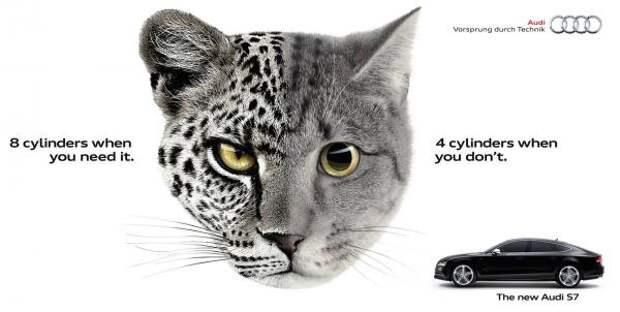 Leopcat, Audi, Bbh London, Volkswagen Group, Печатная реклама