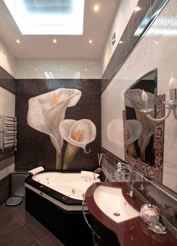 Художественная мозаика в ванной