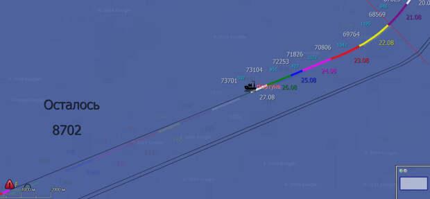 СП-2 26.08: Фортуна снова пашет в крейсерском темпе, уже меньше 10 км до финиша!
