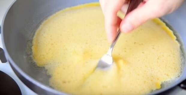 французский омлет с молоком