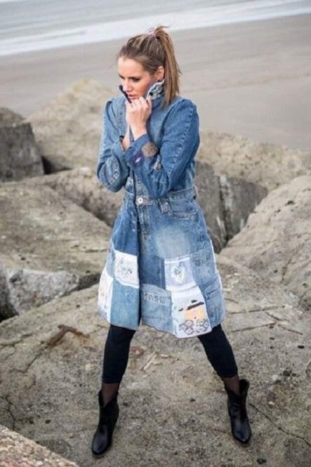 Лёгкое пальто из джинсы. Вдохновляющие идеи для творчества