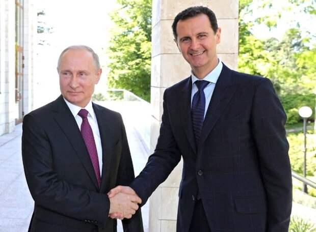 Путин встретился с Асадом в Дамаске