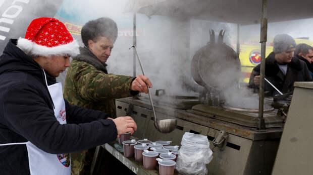 Суп за 20 рублей для бедных. Я не рискнул попробовать.