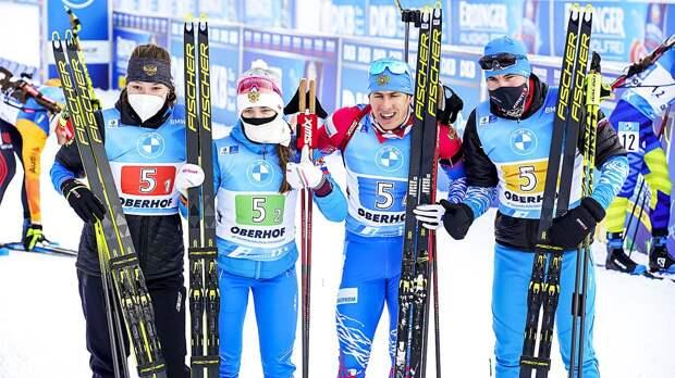 Стал известен состав сборной России на чемпионат мира по биатлону
