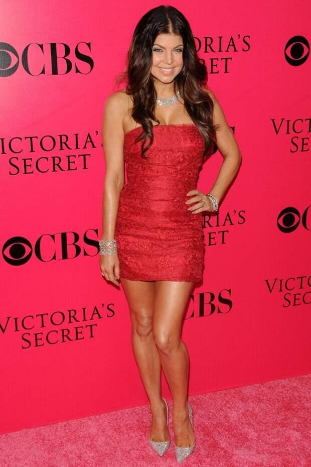 Fergie red dress