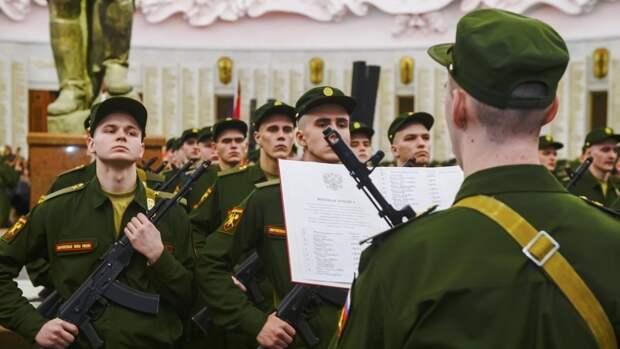Свыше 100 молодых солдат соединения ВВО приняли военную присягу в Забайкалье