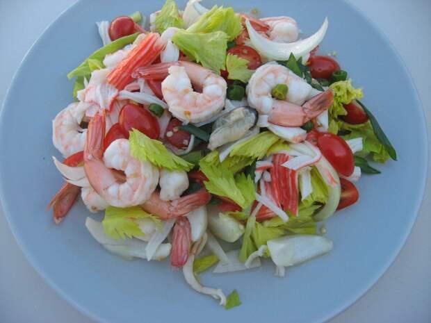 Рецепты вкусных морских салатов из морепродуктов
