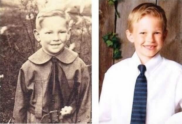 7. Прапрадедушка и внук: 1917 и 1995 дети, неожиданно, подборка, родители, семья, сравнение, тогда и сейчас, фото