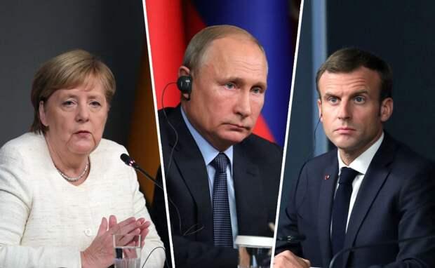 «Это плохо кончится»: Меркель и Макрон не стали перечить Путину по Белоруссии